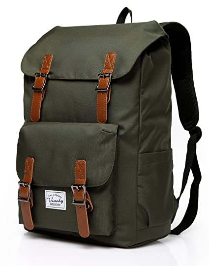 Amazon.com  Vaschy Outdoor Hiking Waterproof Rucksack College Bookbag  15.6in Laptop Backpack Green  VaschyDirect 9c3491ff1ae70