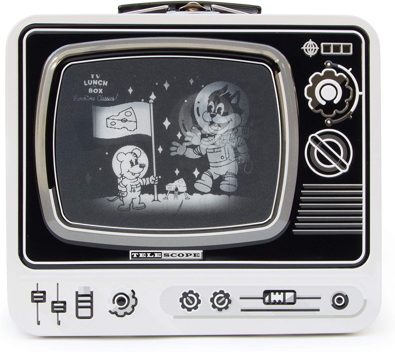 SUCK UK TV Food Containers I Kitchen Organization & Storage I Lunch Kids I Toy Storage I Bento Box I – Moon Landing (White), One Size