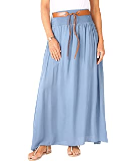 e0c88909b4 Mogul Interior Womens Bohemian Skirt Printed Crinkle Cotton Gypsy ...