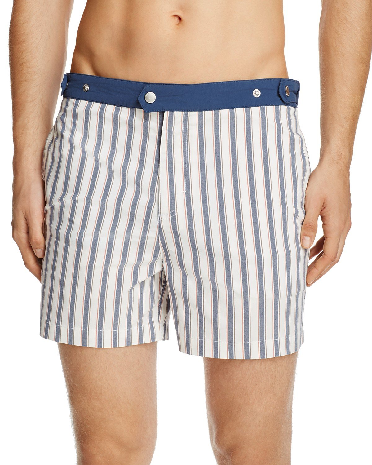 Solid & Striped Men's Kennedy Chesapeake Striped Swim Trunks (Small, Royal)