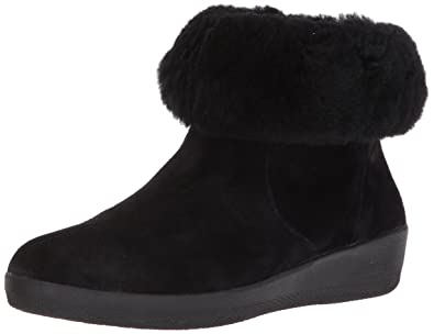 9c822381daf2 FitFlop Women s Skatebootie Suede Shearling Ankle Boot