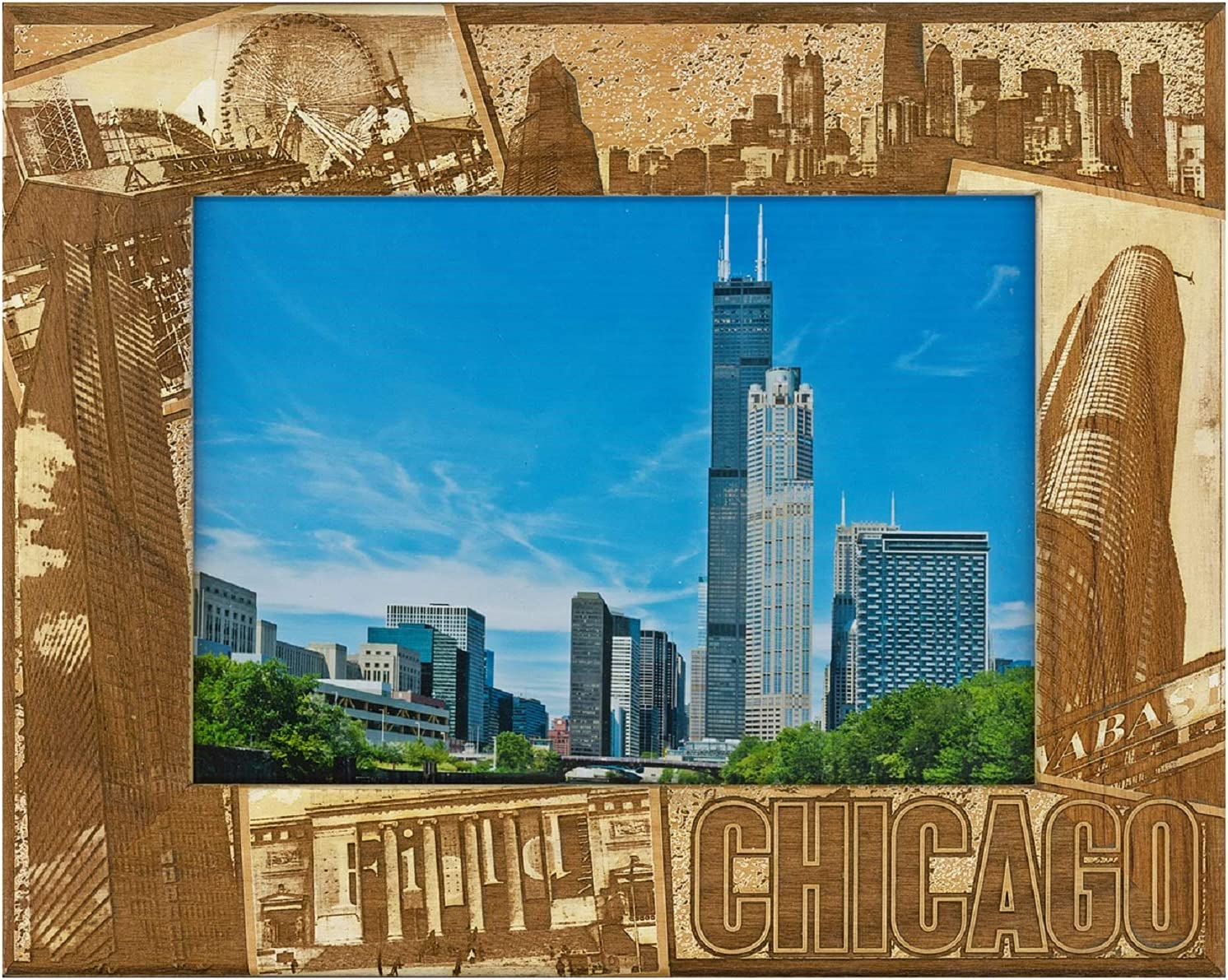 5 x 7 Purdue University Laser Engraved Wood Picture Frame