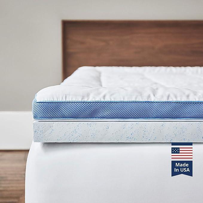 Viscosoft Pillow Top Latex Mattress Topper Queen Serene 3 Inch Gel Latex Mattress Pad Premium Quilted Cover Furniture Decor