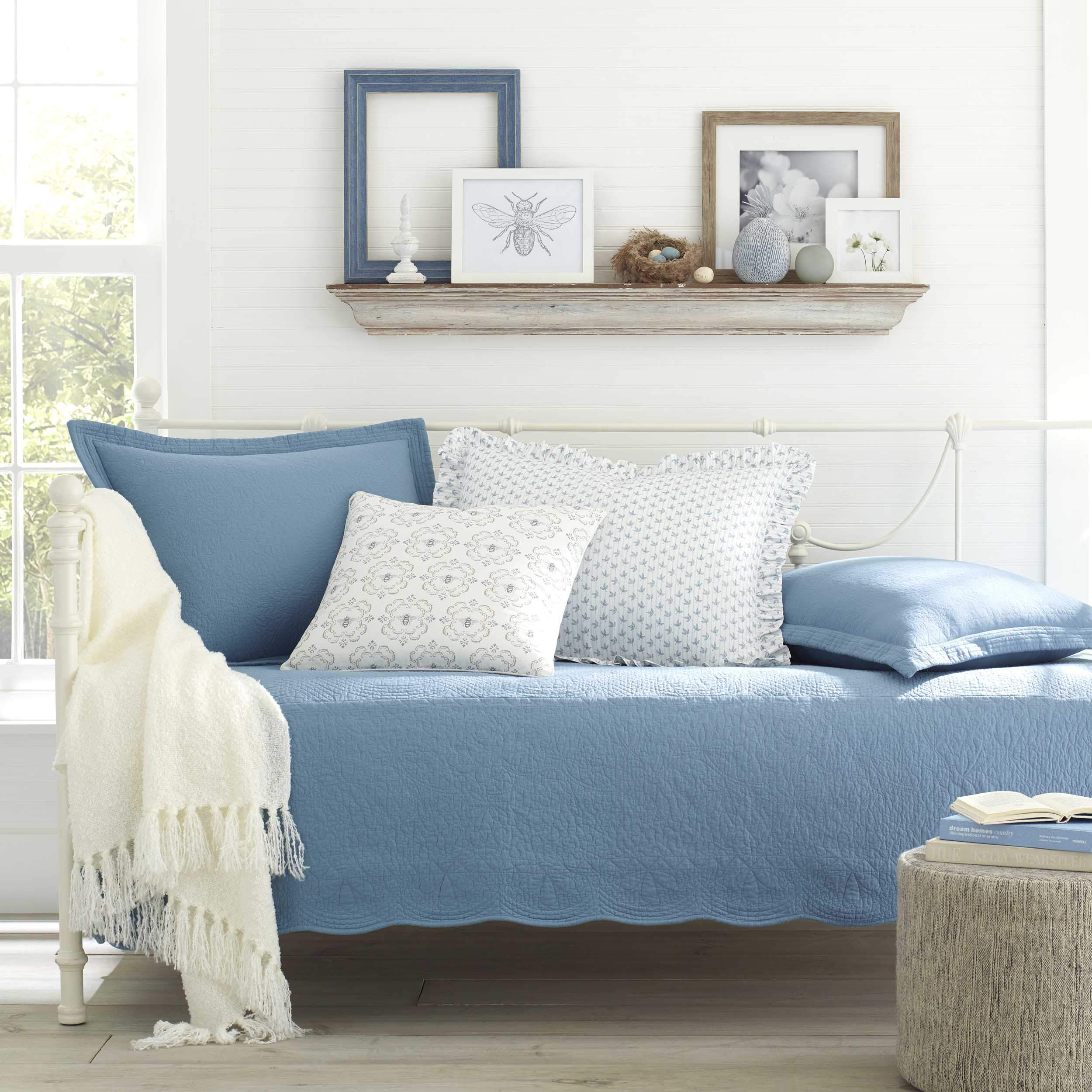 Stone Cottage Trellis Daybed Set, 39x75, Blue by Stone Cottage (Image #1)