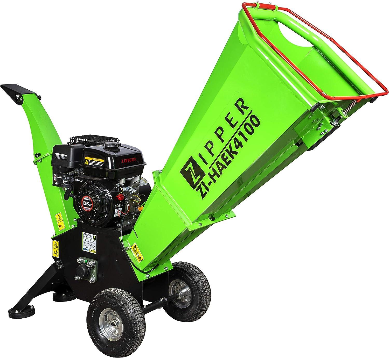 Trituradora de gasolina Zipper ZI-HAEK4100 triturador de jardin ramas arbustos..: Amazon.es: Bricolaje y herramientas
