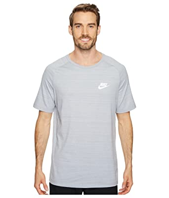 eecc0bb9e Nike Mens AV15 Athletic T-Shirt Wolf Grey/Heather-White 885927-012 ...