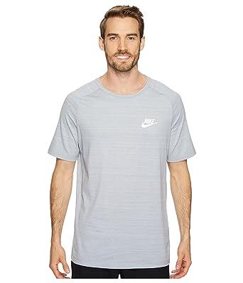 1af8fe976dfb96 Nike Mens AV15 Athletic T-Shirt Wolf Grey/Heather-White 885927-012 ...