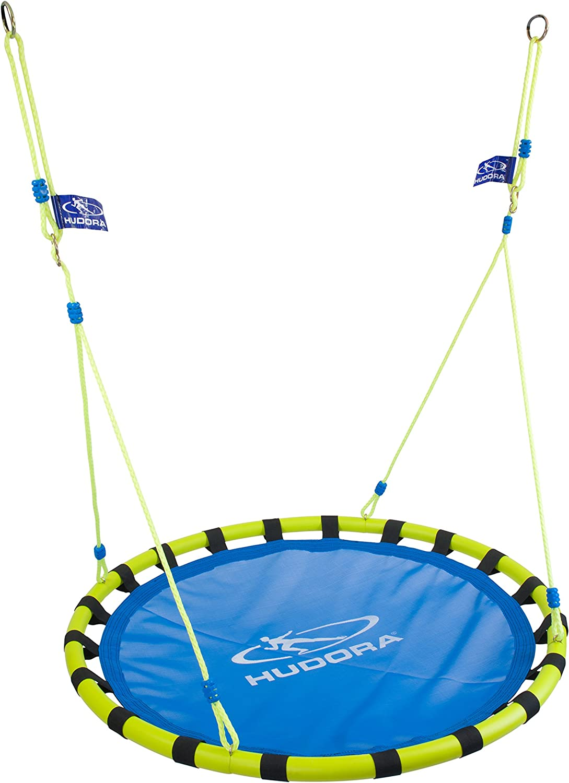 Hudora 72157 Columpio para bebés Azul, Amarillo - Columpios para bebés (3 año(s), 120 kg, Azul, Amarillo, 1200 mm, 1200 mm, 45 mm)