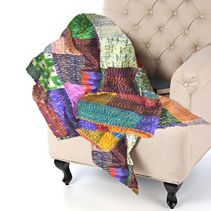 KraftDirect Quilts Throws   SUPERIOR QUALITY, Decorative Throws For Sofa,  Quilted Throws For Sofa