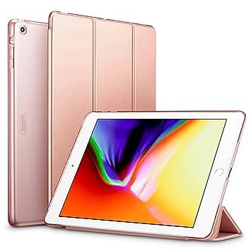 esr Funda iPad Air Silicona [Auto-Desbloquear] y Función de Soporte [Ligera] de Cuero Sintético y Plástico Duro Transparente Esmerilado Smart Cover ...