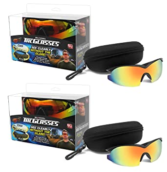 f59e181e88 Image Unavailable. Image not available for. Color  Bell + Howell TAC  GLASSES Sports Polarized Sunglasses for Men Women As Seen On TV