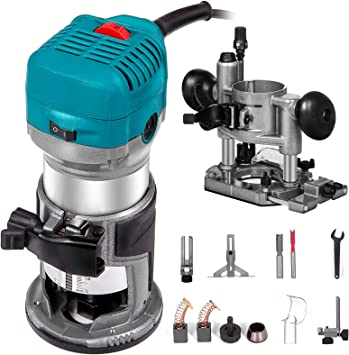 Makita Speed Compact Router Corded Fixed Quick Release Heavy Duty 6.5Amp 1 1//4HP