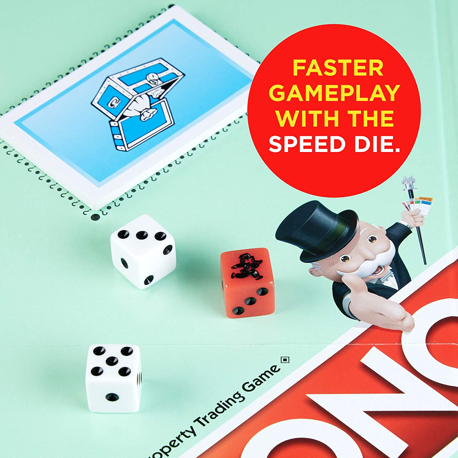 Exclusive Monopoly Speed Die Edition Board Game Ages 8 and Up Hasbro C3888