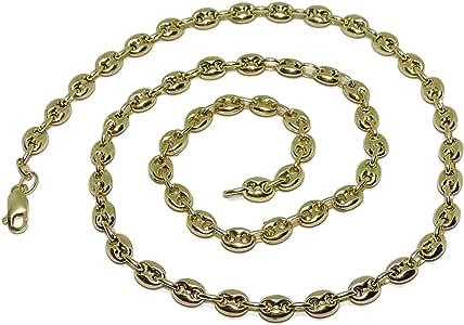 Never Say Never Cadena de Oro Amarillo de 18k de calabrotes de 8x6 y 60cm de Largo. Cierre mosquetón y 23.85gr de Oro de 18k