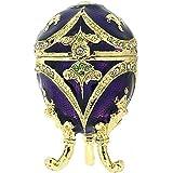 Juliana Ladies Purple Treasured Trinket Faberge-Style Oval Egg In Branded Box