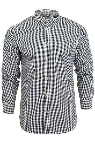 5966e639ac8 French Connection Men's Grandad Check Shirt: Amazon.co.uk: Clothing