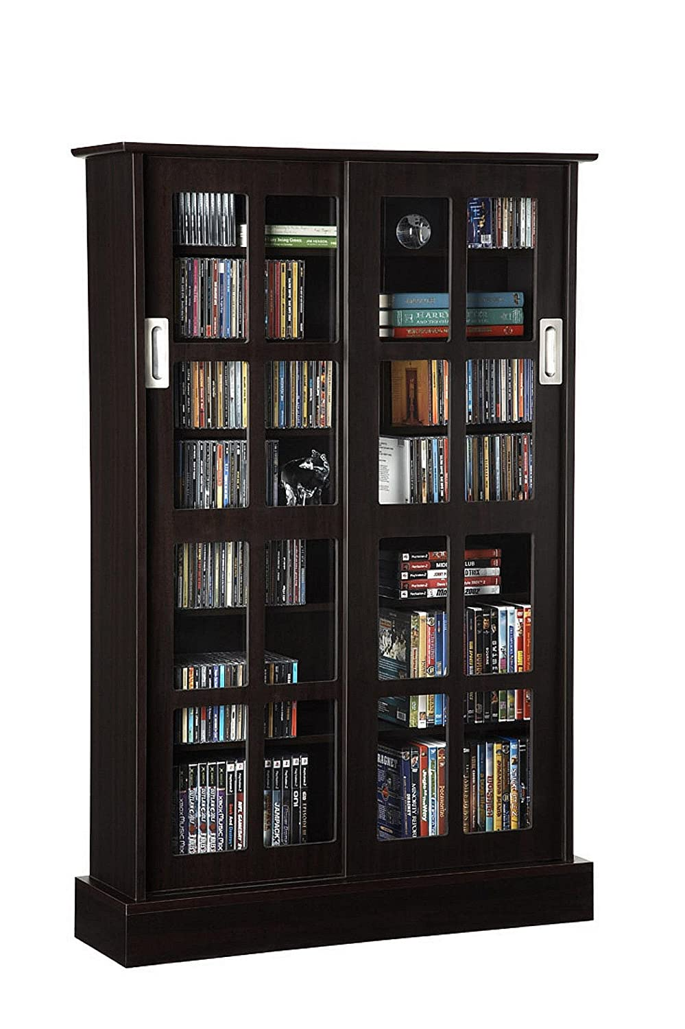 sliding bookshelf small solid book with bookshelves bookcase doors oak tall drawers glass