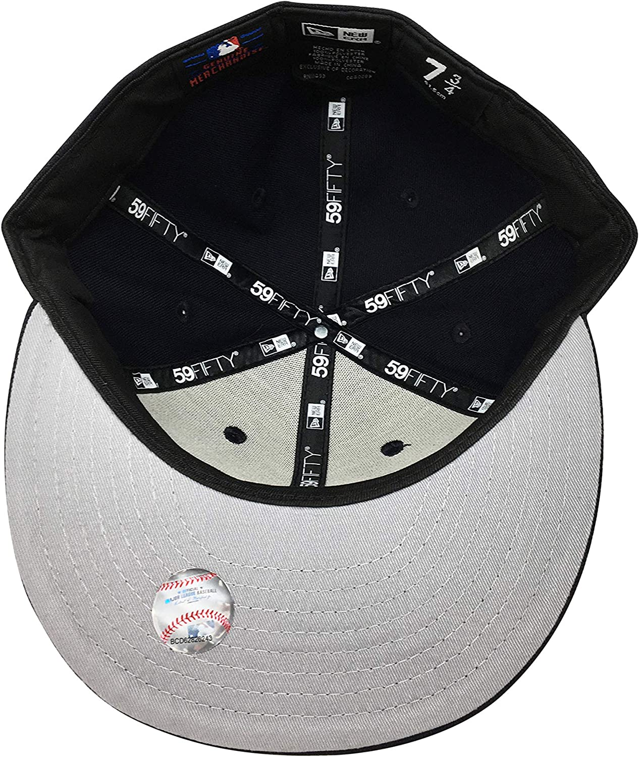 New Era Boston Red Sox 59Fifty Fitted Hat Authentic MLB Fitted Caps 5950 7 3//4, Navy Classic Hit