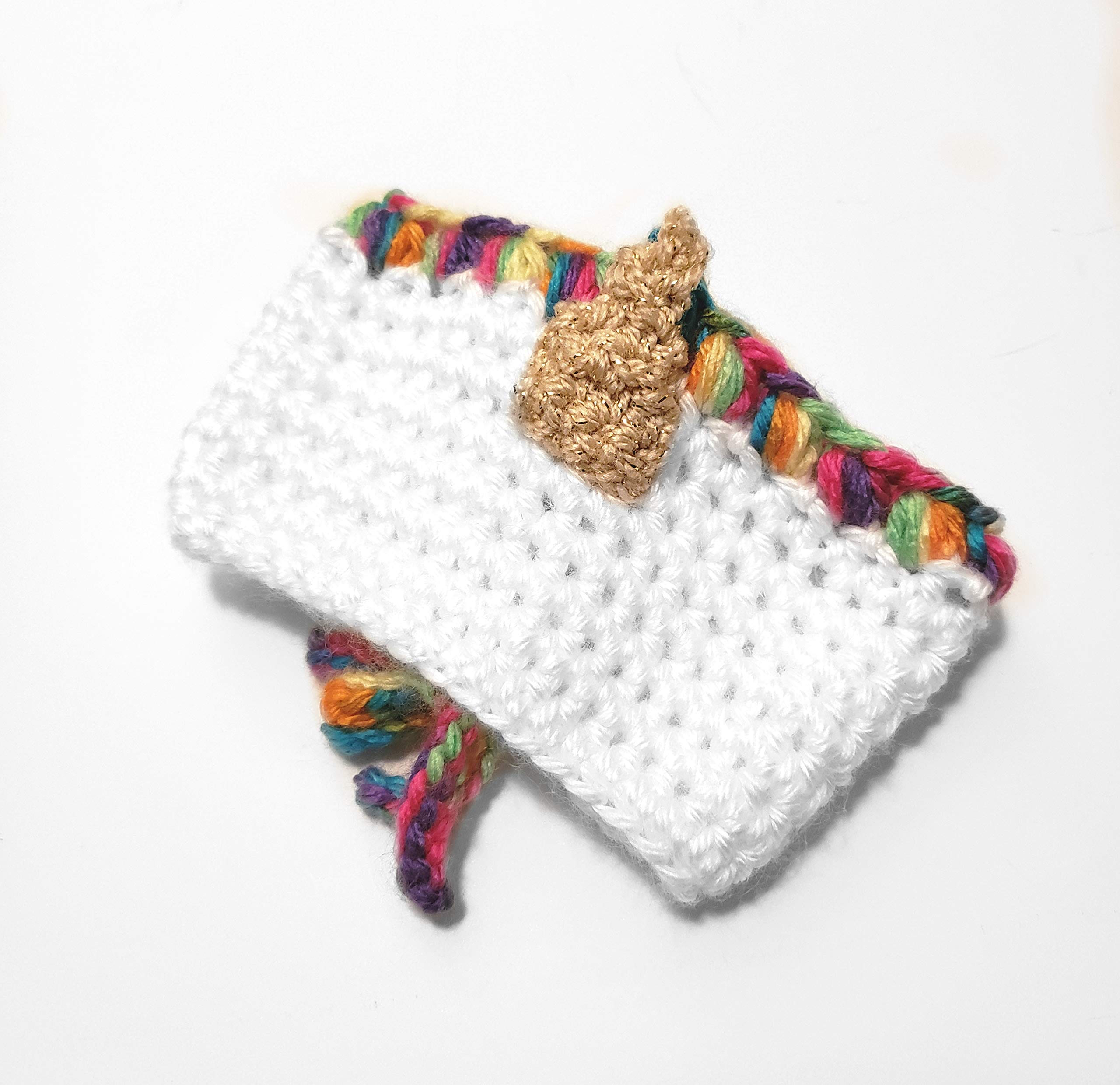 Unicorn Rainbow Crochet Coffee Cup Cozy 3