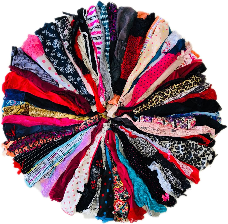 Morvia Varieties of Women Thong Pack Lacy Tanga G-String Bikini Underwear Panties
