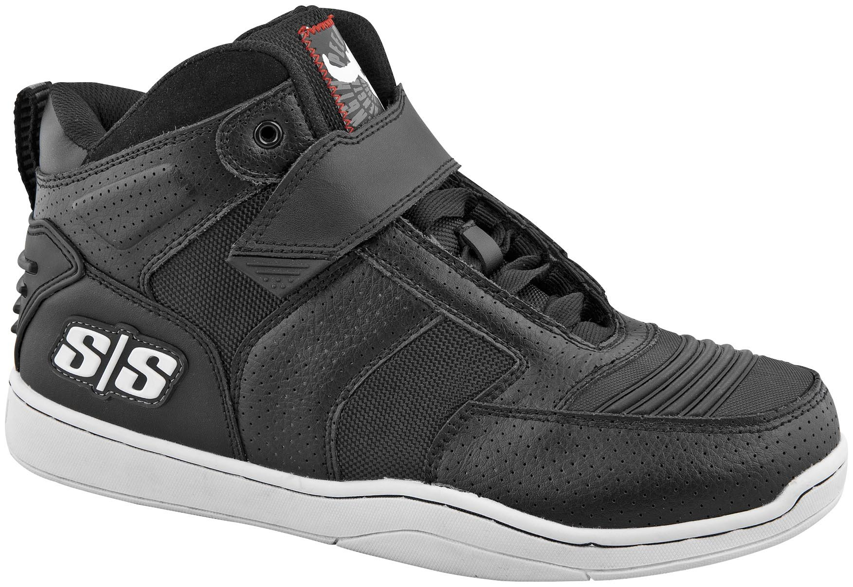 Speed and Strength Run with The Bulls 2.0 Men's Moto Leather Shoes (Black, Size 13)