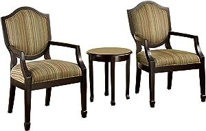 Furniture of America Oasis Armchair & Table Set, Espresso