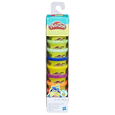 Play-Doh Party Pack 10 1oz Cans of Assorted Color: Toys & Games