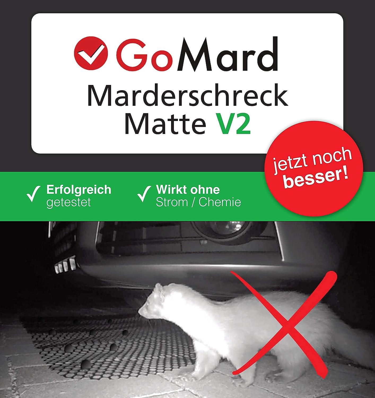 GoMard MARDERSCHRECK V2 f/ür ALLE KFZ GETESTET gegen Marder und Katzen Auto Marderschutz-Matte