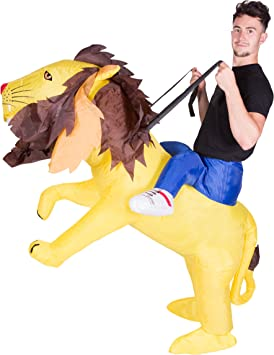 Bambini Ragazzi Ragazze Animale Gonfiabile Lion Costume Vestito