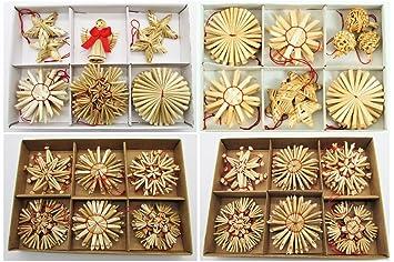 66 Weihnachtsanhanger Stroh Christbaumschmuck Strohsterne Natur