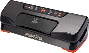 """PrimalTek Basic Vacuum Sealer – User Friendly for Food Savers, 12"""" Sealing Bar, 21inHg Vacuum Pressure – Waterproof with Easy-Touch Control Panel Buttons, Seals up to 100 Vacuum Bags Per Hour"""