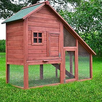 8357945db40544 Zooprimus ❤ Cage Clapier Enclos lapin ❤ Extérieur en Bois de pin de Haute  Qualité pour