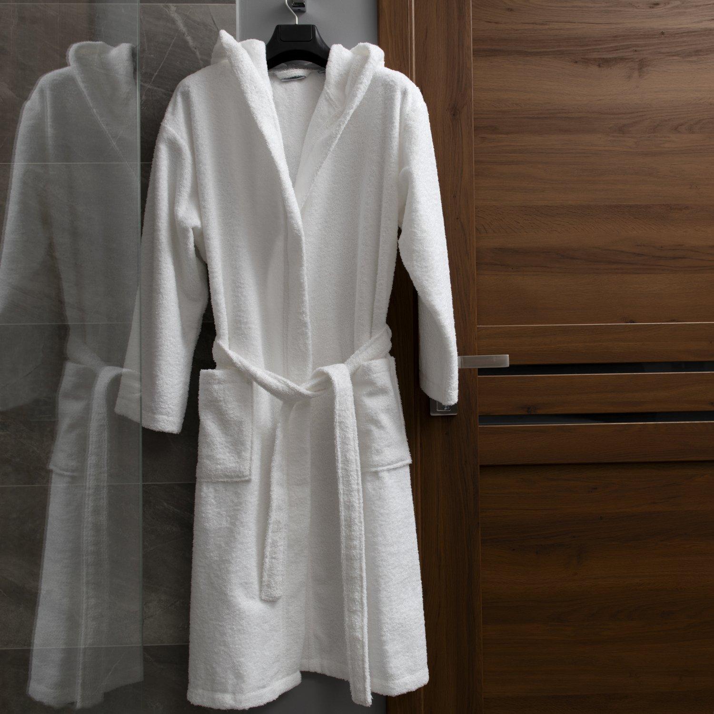 Oeko-TEX Zertifiziert Bademantel für Damen mit Kapuzen - Morgenmantel Morgenmantel Morgenmantel mit Baumwollfrottee, 2 Taschen, Gürtel - Saunamantel, Weich, Saugfähig und Bequem B07CK1WVXJ Bademntel 8237a0