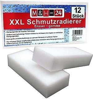 1 Saugnapf 5 St/ück Putzschwamm Gesicht K/üche Bad Kratzfrei- 405x65 mm Waschbar der Ideale Topfreiniger Schwamm