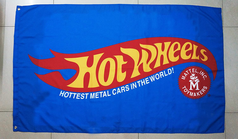 Hot Wheels Flag Hot Wheels Car Flag Blue Hot Wheels Car Show Flag - Car show flags