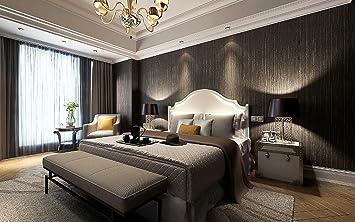 Metallic Vinyl Grasscloth Wallpaper Roll Bedroom Textures