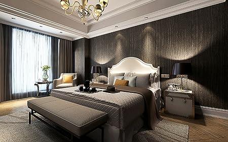 Metallic Vinyl Grasscloth Wallpaper Roll Bedroom Textures Pvc Dining