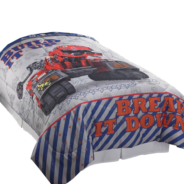 Dreamworks Dinotrux Twin-Full Comforter Build It Up Dinosaur Reptools Construction Robots Bedding