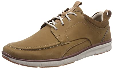 95c52be36eedb8 Clarks Men s Orson Bay Trainers Brown (Tan Nubuck) 13 UK  Buy Online ...