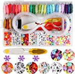 Handcrafted DIY Bracelet Making Beads Kit,Hand-Make Necklaces Letter Beads Colorful,WEEFUN 30