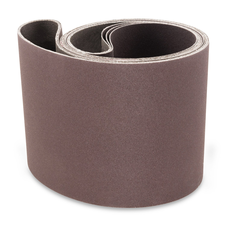 4 X 36 Inch 80 Grit Aluminum Oxide Premium Quality Metal Sanding Belts, 3 Pack