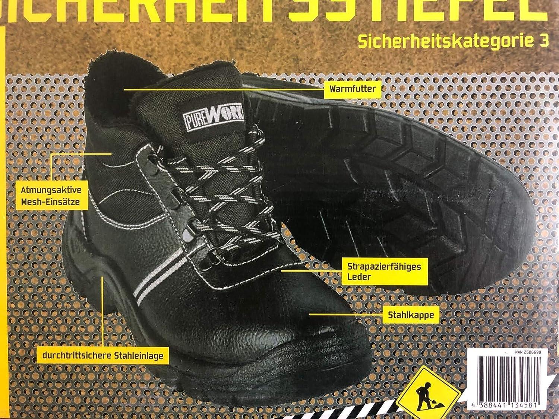 Baustiefel Leder /& Mesh-Eins/ätze Arbeitsschutzstiefel Dekoleidenschaft Herren Sicherheitsstiefel S3 mit Stahlkappe