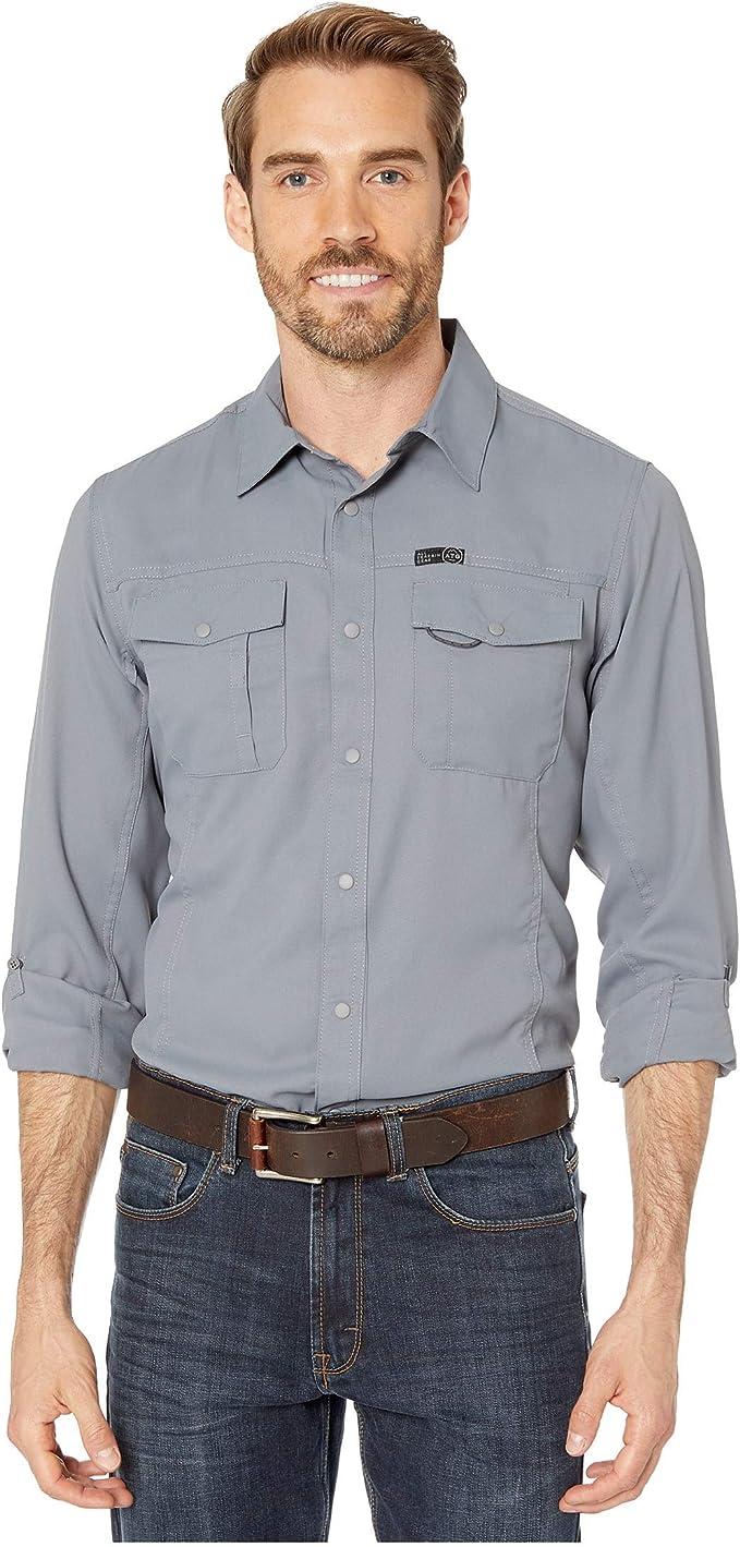 Wrangler ATG Camisa de senderismo con bolsillo para exteriores - Gris - Large: Amazon.es: Ropa y accesorios