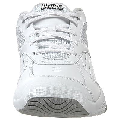 Amazon.com | Prince Womens Poise Tennis Shoe, White/Silver, 6 M US | Tennis & Racquet Sports