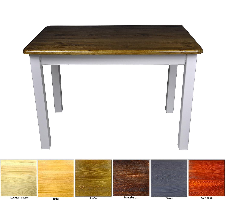 Esstisch Küchentisch Tisch Massiv Kiefer Speisetisch in versch. Größen (70x100, Eiche)