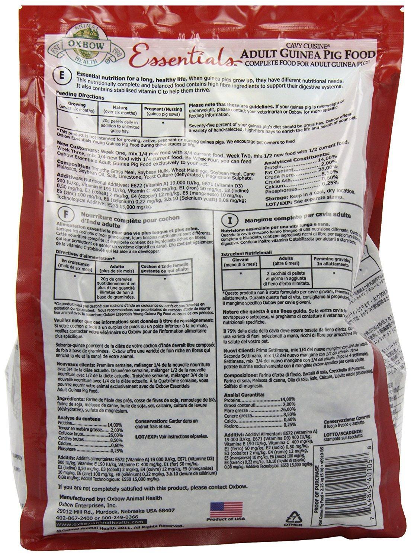 amazon com oxbow essentials guinea pig timothy based 5