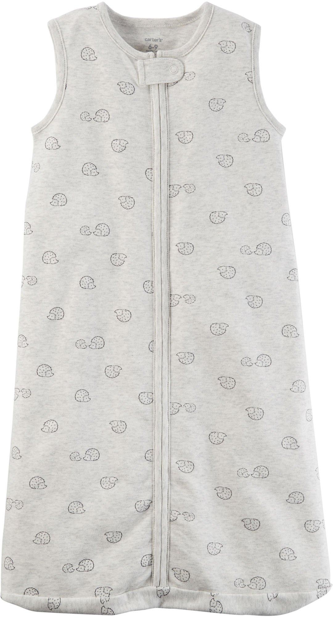 Carter's Baby Hedgehog Cotton Sleep Bag, Gray, Small