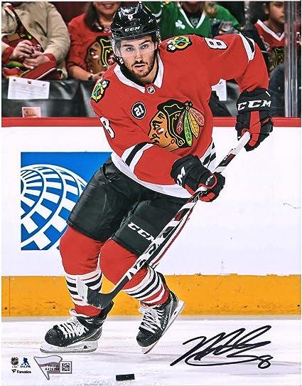 "aedb1ced333 Nick Schmaltz Chicago Blackhawks Autographed 8"" x 10"" Red Jersey  Skating Photograph - Fanatics"