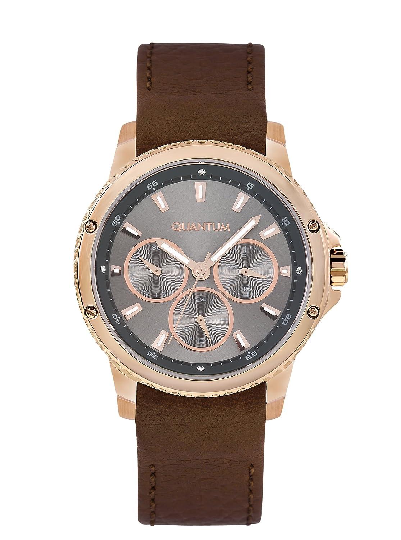 QUANTUM MÄdchen-Armbanduhr Impulse Chronograph Quarz Leder IML464.462