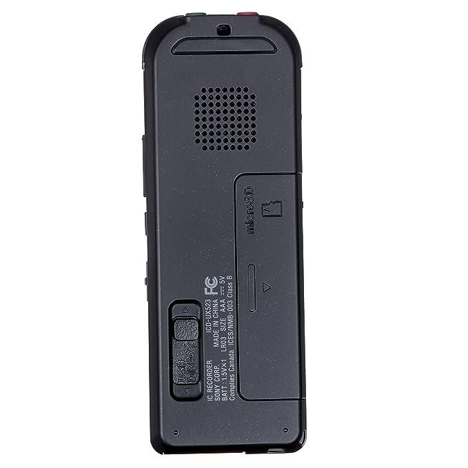amazon com sony icdux523blk digital flash voice recorder electronics rh amazon com Sony IC Recorder ICD -BX112 Manual Sony Digital Voice Recorder